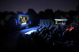 BLOB open air bioscoop, Kunstfort bij Vijfhuizen; fotograaf Ronald Sekan